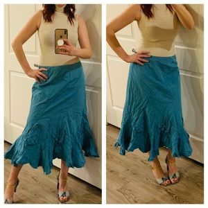 Dresses & Skirts - Asymmetrical Blue Maxi Skirt/Sz:12/NWT